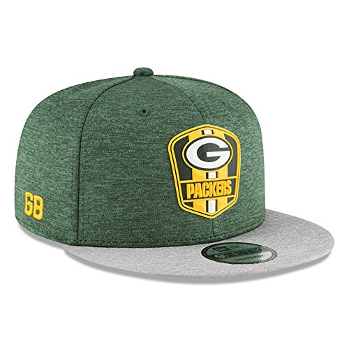 New Era Green Bay Packers 2018 NFL Sideline Road Official 9FIFTY Snapback ()