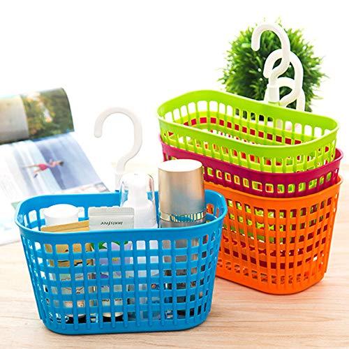Canasta del organizador de almacenamiento - Canasta de organización del almacenaje de plástico de colores, tocador del...