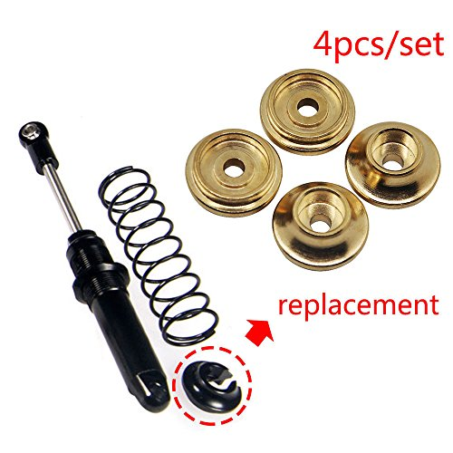 (Brass Spring Retainers Shock Cups For 1/10 RC Rock Crawler Traxxas TRX-4 Pack of 4)