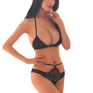 Luckycat Panties Sexy Lace Underwear,Dormir Vestido Interior Cordón Mujeres,Sujetador Deportivo para Mujer, Mujer Cordón Sostén Correa Bowknot Lencería Ropa ...
