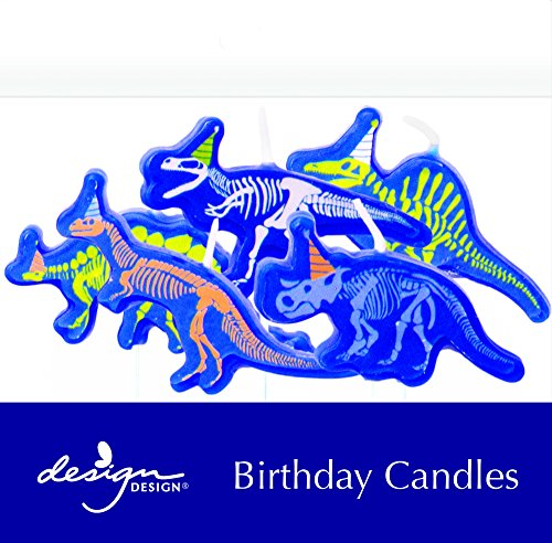 Design Design 758-08917 Dino-Mite Birthday Candles Sculpted, Multicolor by Design Design