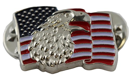 Bald Eagle American Flag Pin Patriotic Military Collectibles Gifts Men Women