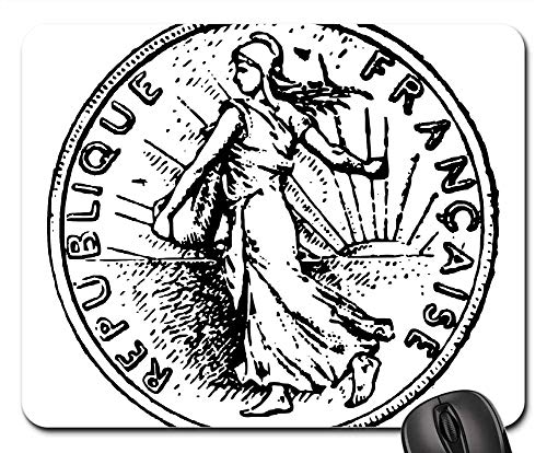 France Gold Coin - Mouse Pads - Franc France Gold Coin People Person History