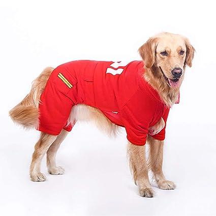 Yingui Ropa para Mascotas, Ropa para Perros Grandes, Suéter Dorado para el Cabello,