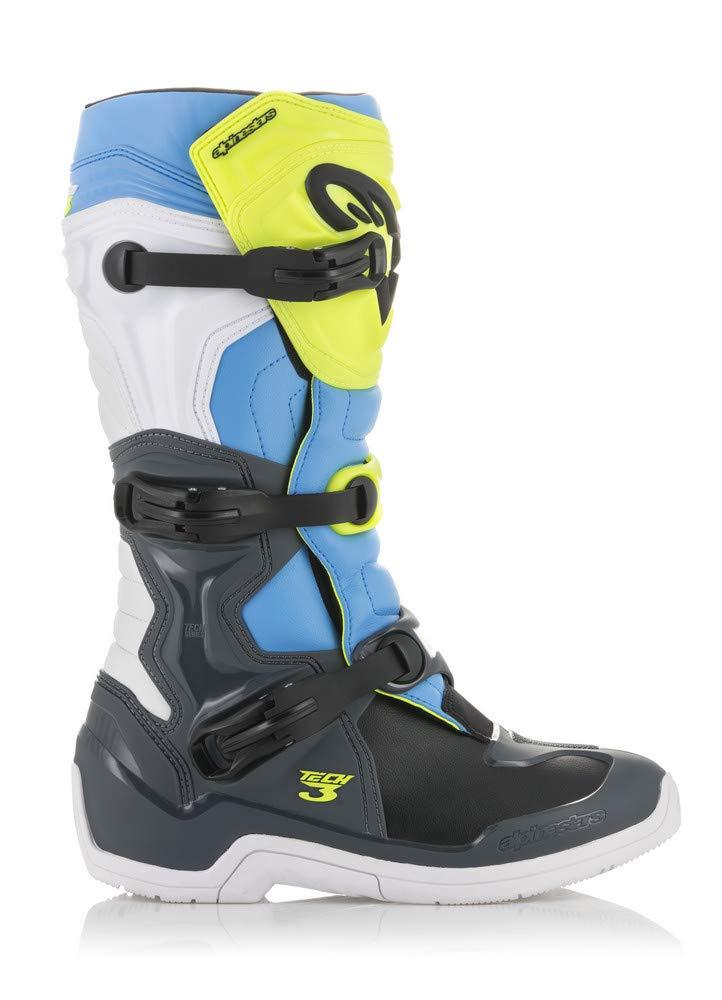Alpinestars Tech-3 Boots (11) (COOL GREY/FLO YELLOW/CYAN)