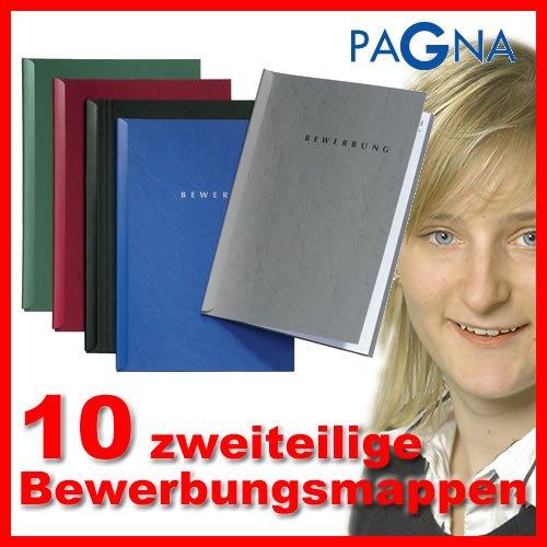 10-teiliges Bewerbungsmappen-Set in BORDEAUX-Rot von Pagna // Bewerbung Bewerben Mappen