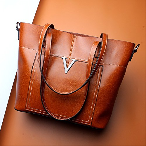 Xuanbao Shoulder Leather Bag Package Fashion Shopping Simple Capacity Large Wild Tote Lady's Diagonal fq6wxrf