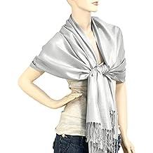 "Falari Women's Soft Solid Color Pashmina Shawl Wrap Scarf 80"" X 27"""
