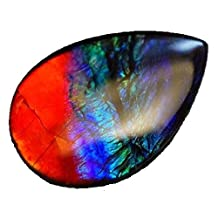 Canadian Ammolite Triplet Pear Shape Loose Gemstone