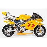 Pocketbike PS77 49cc, Kinderbike, Rennbike, Dirtbike, Mnibike, Gelb-Silber-Weiß
