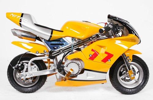 Pocketbike PS77 49cc, Kinderbike, Rennbike, Dirtbike, Mnibike, Schwarz-Grün-Weiß