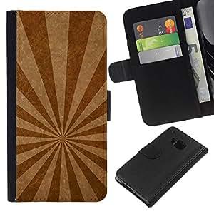 Planetar® Modelo colorido cuero carpeta tirón caso cubierta piel Holster Funda protección Para HTC One M9 ( Emission lines texture )