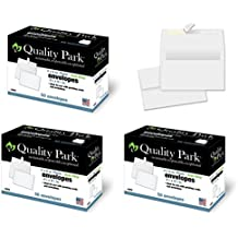 "Quality Park 4-1/2 x 6-1/4 Photo Envelopes with Self Seal Closure, 24 lb White Wove, Ideal for 4"" x 6"" Photos, Invitations and Announcements, 50 per Box, 3 BOXES (150 Envelopes Total) (10742)"