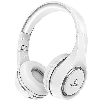 Auriculares Bluetooth en la oreja, Chououkiu Auriculares Inalámbricos Auriculares Estéreo de alta Fidelidad Plegable con Volumen en Línea Mic, ...
