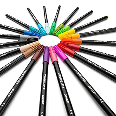 Conté Colouring Adult Colouring Felt Pens - Assorted Colours, Box of 20: Office Products