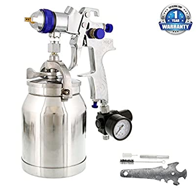 TCP Global Brand HVLP Spray Gun with Cup & 1.8mm Needle & Nozzle for Auto Paint, Primer & Topcoat Applications One Year Warranty
