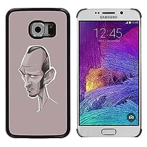 Paccase / SLIM PC / Aliminium Casa Carcasa Funda Case Cover para - caricature writer actor Hollywood - Samsung Galaxy S6 EDGE SM-G925