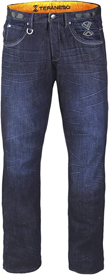 Amazon Com Tefaneso Pantalones Vaqueros Termicos Xl Clothing