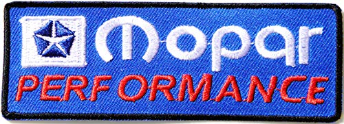Mopar Performance Patch Iron on Sewing Embroidered Applique Logo Badge Sign Embelm (Blue)]()