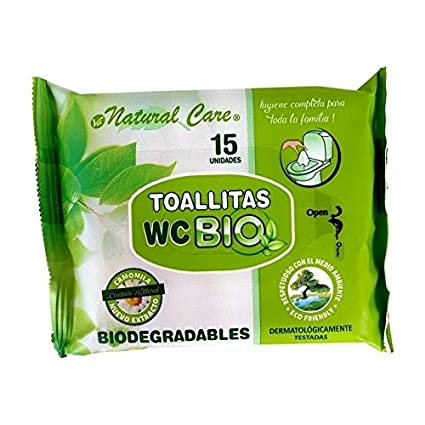 Toallita wc bio 15 uds natural care