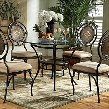Amazoncom Powell Basil Antique Brown Dining Table Pedestal Base - Dining table pedestal base