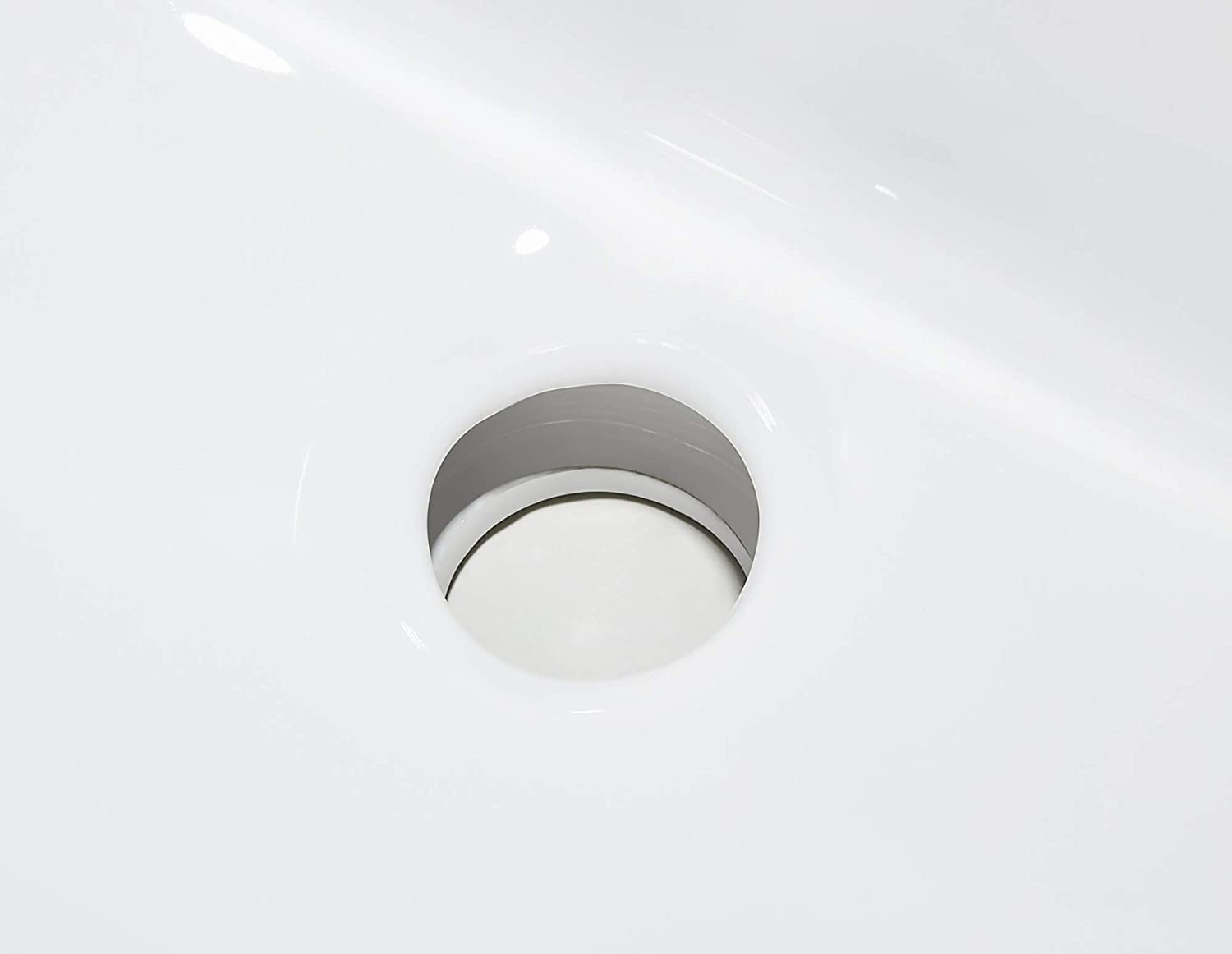 Big Sale Ce Home 21 Modern White Ceramic Basin Rectangular Vessel Sink Above Counter Mounting Drop In Bathroom Countertop Basin With Single Faucet Hole For Lavatory Vanity Cabinet Kitchen Bath Fixtures
