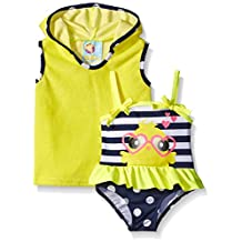 Baby Buns Baby Girls' Little Chick Terry Cover Up Swim Set