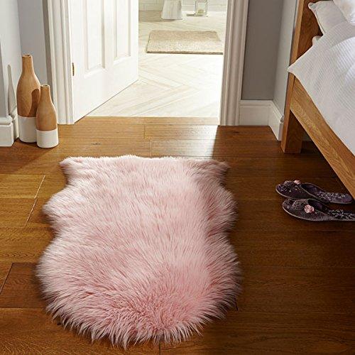 Flair Rugs Teppich Kunstfell Schaffell Teppich, 60x 90cm, pink