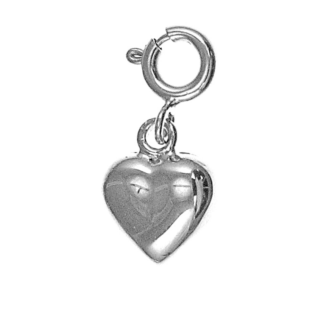 Rhodium-plated 925 Silver Heart Pendant with 30 Necklace Jewels Obsession Heart Necklace