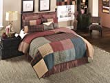 Donna Sharp Campfire Square Quilted Patchwork Cotton Throw Pillow