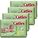 Cuties Baby Diapers, Size 2, 42 Count (Pack of 4)