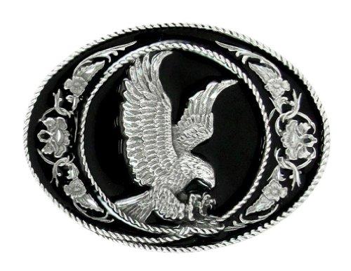 Pewter Belt Buckle - Eagle (Diamond Cut)