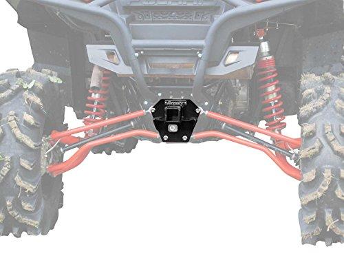 Rear Receiver - SuperATV Heavy Duty Rear Receiver Hitch for Polaris RZR XP 900/4 900 (2011-2014) - Black