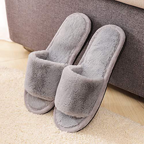 Cotone Con Per Invernali Ed Grey Size color E Giapponesi In Grey Coreane Esterni Home Caldi 1 Pantofole Peluche Spessi Huaix La Interni Casa Xwq6In