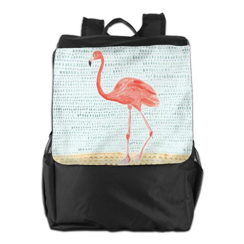 For Dayback Personalized Strap Women Storage Travel School Men HSVCUY Adjustable Flamingo Camping Art Shoulder Outdoors Backpack and fq7nxFO