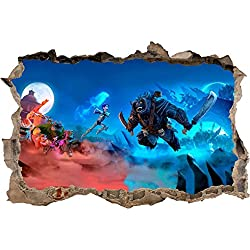 Trollhunters 3D Smashed Wall Sticker Decal Home Decor Art Mural Kids J670, Mini