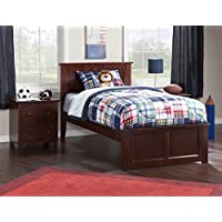 Eco-friendly Twin XL Bed (Walnut Finish)
