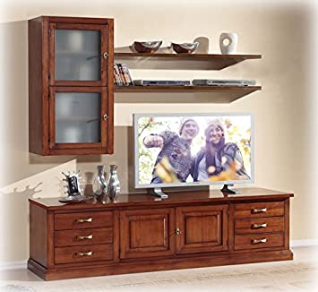 Living room unit, furniture in wood, tv stand and display ...
