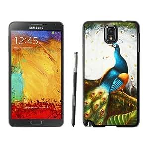 Beautiful Samsung Galaxy Note 3 Case Elegant Peacock Art Design Soft TPU Rubber Black Phone Cover Accessories