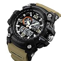 Skmei Analog-Digital Black Dial Men's Watch - 1283 Brown