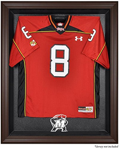 Maryland Terrapins Brown Framed Logo Jersey Display Case by Sports Memorabilia