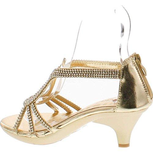 a8af2b18108 Delicacy Angel 36 Women Dress Sandal Rhinestone Low Heel Pumps - Import It  All