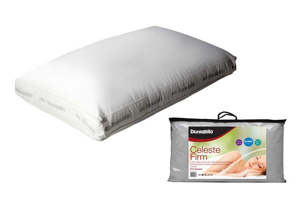 Dunlopillo Celeste Boxed Latex Firm Pillow Covered with Spiral Fibre, White 1239171
