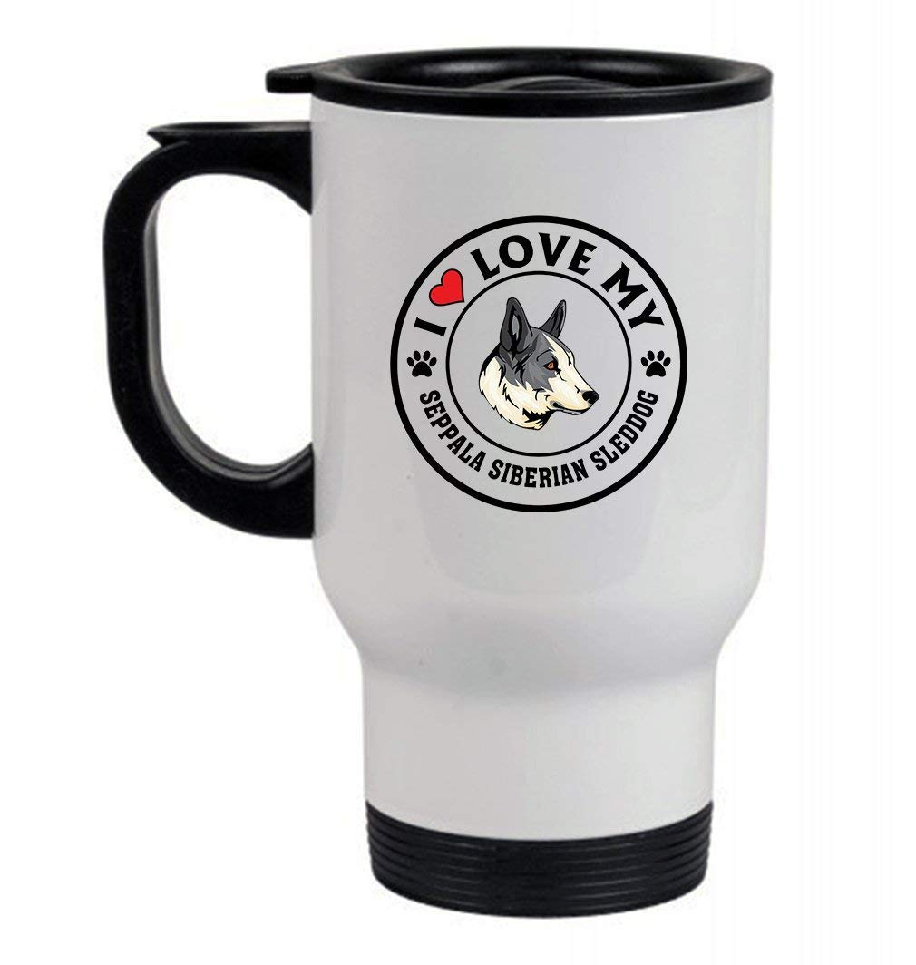 THAI RIDGEBACK DOG I love my 14oz Stainless Steel Travel Mug White - Coffee Mug,Beer mug,Travel Mug