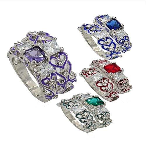 Ring Silver Women,Kstare Luxury Ladies Square Zircon Alloy Rings for Women Finger Rings ()