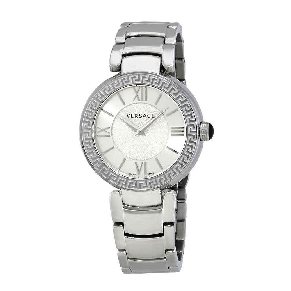 Versace Reloj Analógico para Mujer de Cuarzo con Correa en Acero Inoxidable VNC210017: Amazon.es: Relojes