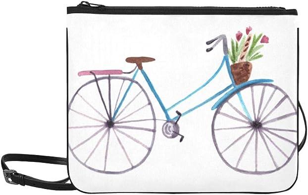 WYYWCY Bicicleta con la canasta del patrón de flores Bolso de ...
