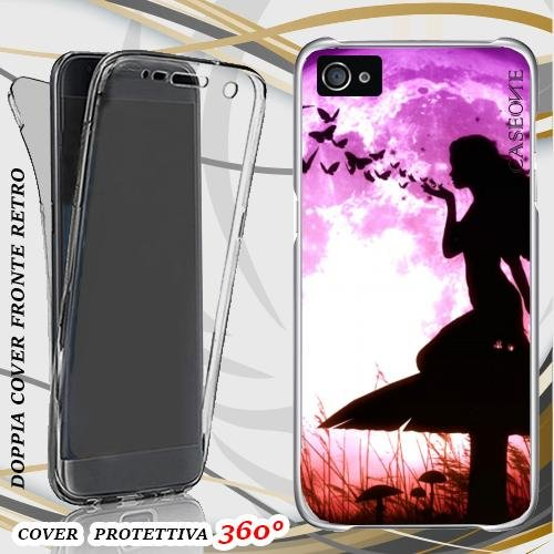 CUSTODIA COVER CASE MISTYC BUTTERFLY PER IPHONE 4 FRONT BACK