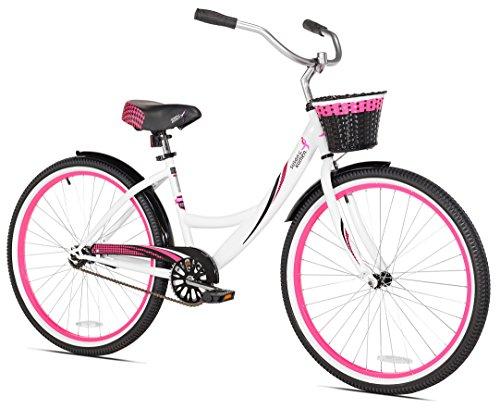 KENT Susan G Komen Single Speed Cruiser, Pink/White, 16