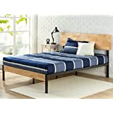 Canada's Best Mattress Tuscan Metal & Wood Platform Bed with Wood Slat Support, Queen